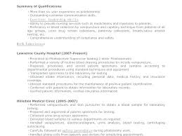 Phlebotomist Resume Example Templates Sample Includes Skills Experience Educational Template