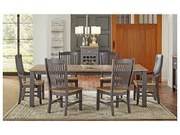 Port Townsend 7 Pc Table & Chair Set- (Rectangle Table, 4 Side Chairs & 2  Arm Chairs) By AAmerica At Wayside Furniture
