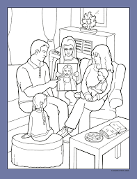 Lds Family In Living Room Coloring Pages