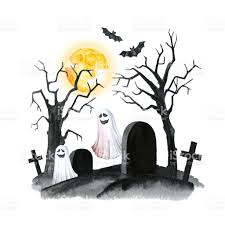 Halloween Horror Nights Promo Codes 2017 by Old Cemetery Landscape Horror Night Halloween Party Illustration