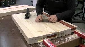 butcher block countertop glue up youtube