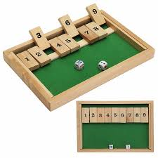 Classic Shut The Box Wooden Board Game Dice Pub Family Kids Toy Christmas Gift Educational Toys