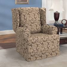 wing chair recliner slipcovers wing chair slipcovers you ll wayfair