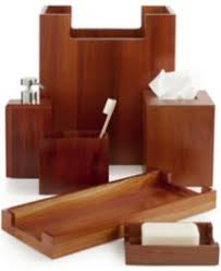 closeout hotel collection teak bath caddy created for macy s
