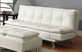 White Leather Sofa Bed Ikea by White Leather Sofa Bed Sleeper With Adjustable Arms Ktactical