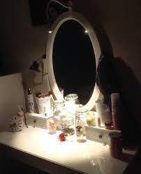 Makeup Desk With Lights by Bedroom Glass Top Make Up Table With Lighted Square Mirror With