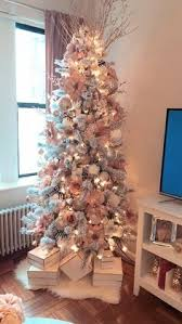 White Christmas Tree With Rose Gold And Pink Decorations For 7446