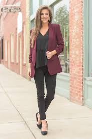 The Smartie Blazer Burgundy You Can Do It All In This