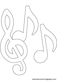 Music Note Page Coloring Sheets Notes Printable