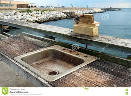 Fish Cleaning Station With Sink by A Public Fish Cleaning Station Stock Photo Image 76059157