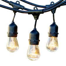 newhouse lighting 48 ft 11 watt outdoor weatherproof string light