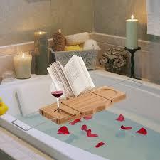 Bath Caddy With Reading Rack Uk by Homcom Bathtub Caddy Shelf Bath Tub Holder Bathroom Tray Wine Book