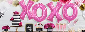 Pink And Gold Birthday Decorations Canada by Letter Balloons Balloons Party City