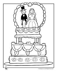 Free Printable Wedding Coloring Pages Cake Page Fantasy Jr For The Kids At