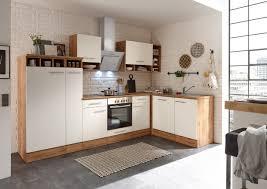 küchenzeile küche winkelküche l form küche eiche sonoma grau