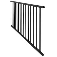 Shop Freedom New Castle 70.75-in X 33-in Black Aluminum Porch ... Decorating Best Way To Make Your Stairs Safety With Lowes Stair Spiral Staircase Kits Lowes 3 Staircase Ideas Design Railing Railings For Steps Wrought Shop Interior Parts At Lowescom Modern Remodel Spindles Cozy Picture Of Home And Decoration Outdoor Pvc Deck Buy Decorations Banister Indoor Kits Awesome 88 Wooden Designs