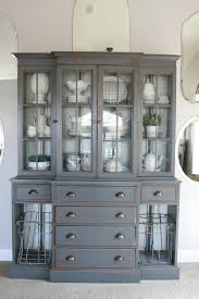 White Dishes China Cabinet