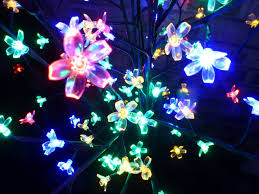 Artificial Christmas Trees Uk 6ft by Light Up 1 8m 6ft Multi Coloured Christmas Blossom Tree Decoration