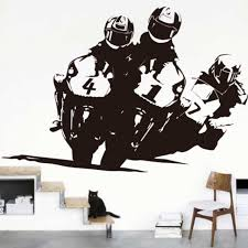 race motorcycle wall stickers 150cmx100cm motocross wall