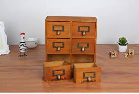 Six Drawer Storage Cabinet by Wooden Storage Box Desk Organizer Multi Functional Wooden Storage
