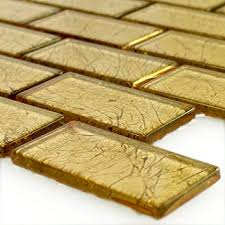 glas mosaikfliese brick gold struktur wandfliesen mosaik fliesen glasmosaik fliesen bordüre ideal für die küche und badezimmer auch