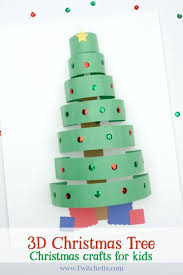 3d paper christmas tree christmas crafts for kids twitchetts