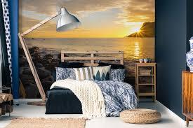 schlafzimmer mit der fototapete meer 59plus