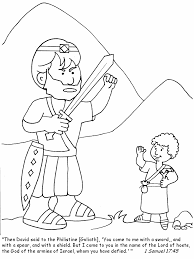 David And Goliath Coloring Pages Bible Samuel
