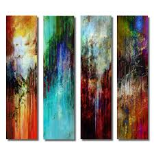 4 images on metal 3009 modern abstract print limited edition on polished aluminium in stainless steel design impressive murals