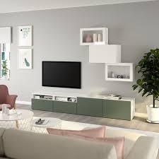 bestå tv storage combination glass doors white lappviken