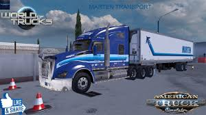 100 Falcon Trucking American Simulation Marten Transport Early Morning Drive