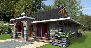 Capricious 3d House Plans In Kenya 14 3 Bedroom Bungalow Designs Design Elegant