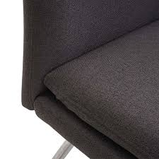 sitzbank esszimmerbank bank polsterbank rückenlehne stoff textil edelstahl gebürstet grau braun 160cm