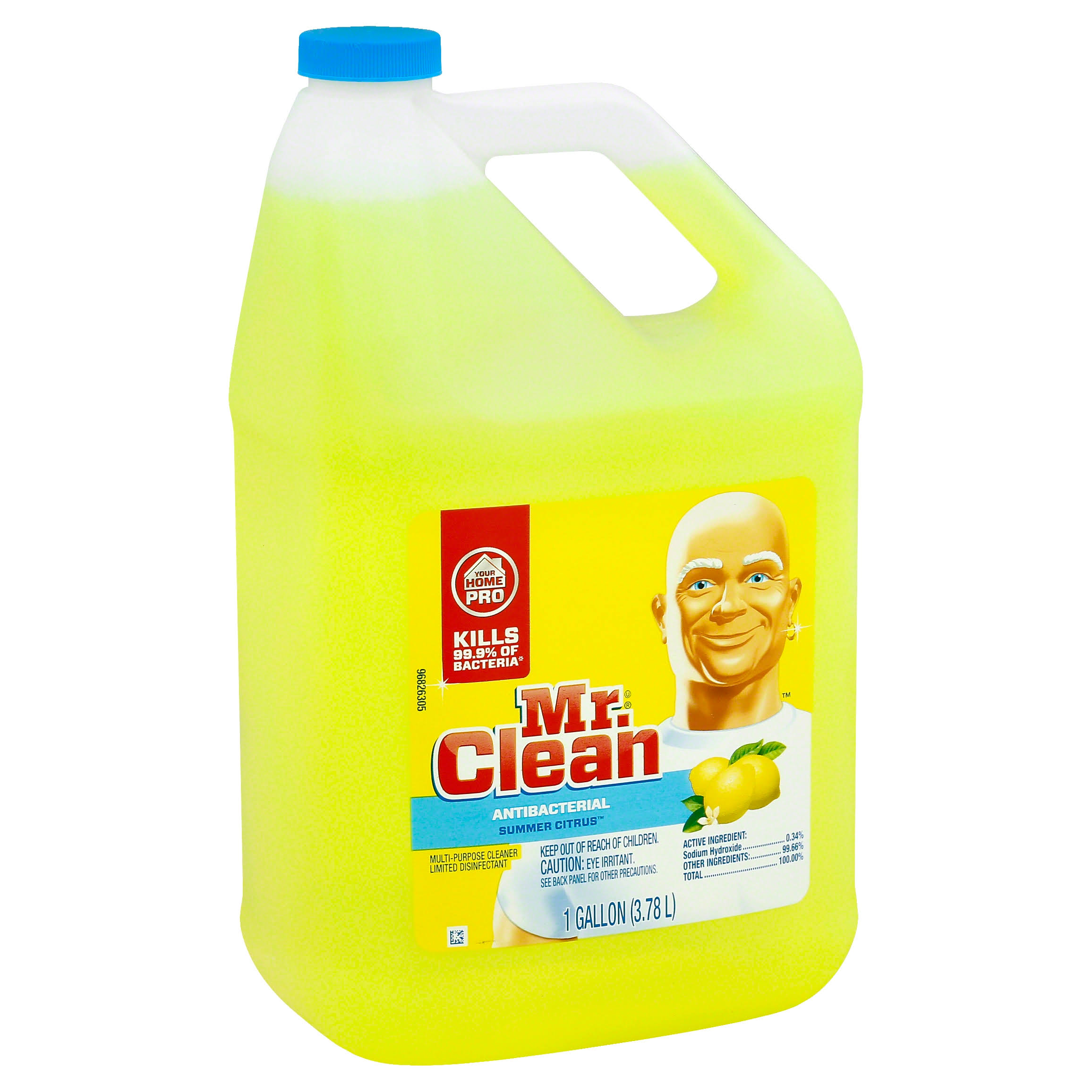 Mr. Clean Multi-Surfaces Antibacterial Liquid Cleaner - Summer Citrus, 128oz