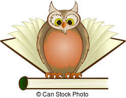 Vector Illustration Of A Forest Glade With Owl And Book