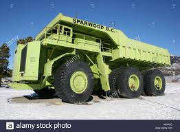 100 Largest Truck In The World Sparwood British Columbia In The Stock Photo