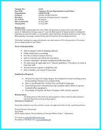Entry Level Bank Teller Resume Examples Good Summary Best
