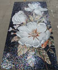 mosaic tile mural flowers search tiles