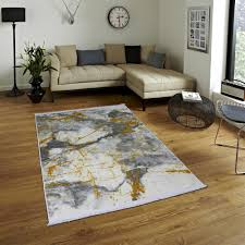 brillant teppich marmor optik gold grau waschmaschinengeeignet waschbar rutschfest