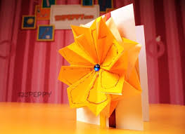 Here Is An Idea To Create A Greeting Craft Yourself For Your S Fancy Flower Card