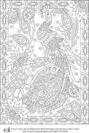 Creative Coloring Pages To Print Free Printable Adult Peacock Haven