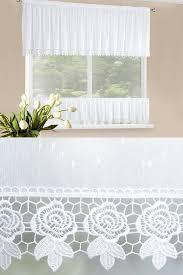 gardine scheibengardine weiß voile spitze wohnzimmer