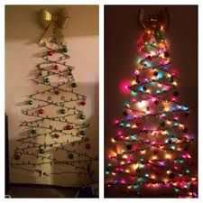 Outdoor Christmas Decorations Ideas On A Budget by Diy Christmas Tree Cheap Easy And Space Friendly Way To Decorate