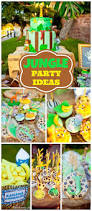 Baptism Decoration Ideas For Twins by Safari Jungle Zoo Animals Trees Twins Baptism