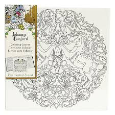 Buy Johanna Basford Enchanted Forest Unicorn Colouring Canvas Online At Johnlewis