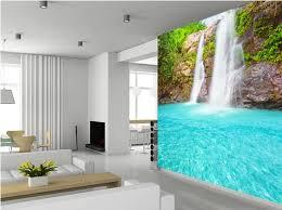 benutzerdefinierte landschaft tapete wasserfall wandbilder für wohnzimmer schlafzimmer küche wand hintergrund wand wasserdicht pvc tapete
