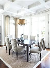Measurement Dining Room Rug Ideas Design Within For Idea Cowhide Table In