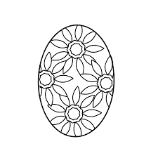Fabulous Easter Egg Coloring Pages With Basket