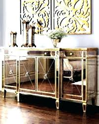 Mirrored Buffet Cabinet Dining Room Medium Size Of Glass Server Sideboards Interesting