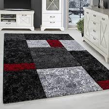 teppich modern designer wohnzimmer konturenschnitt karo